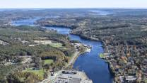 Bridgewater from the air